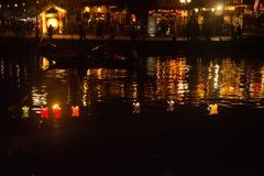 Hoi - город китайских фонариков Стоковое Изображение RF