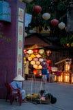 Hoi - город китайских фонариков Стоковая Фотография