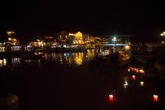 Hoi - город китайских фонариков Стоковые Фото