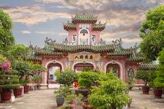 Hoi китайский висок в заходе солнца Стоковые Изображения