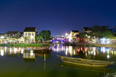 Hoi An ancient town. At night stock image
