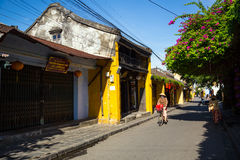 Hoi An ancient town under blue sky royalty free stock image