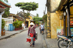 Hoi An ancient town. HOI AN, VIETNAM-JAN. 11 2014:Traditional culture and many foreign culture mix in this ancient town: Hoi An, Vietnam Stock Image