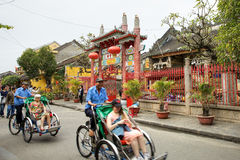 Hoi An ancient town. HOI AN, VIETNAM-JAN. 11 2014:Traditional culture and many foreign culture mix in this ancient town: Hoi An, Vietnam Royalty Free Stock Photos