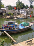 Hoi anh river boat vietnam Royalty Free Stock Photos