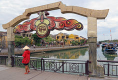 Hoi An Bridge scene Stock Photos