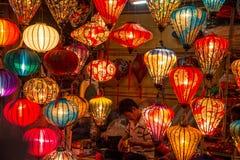 Hoi An - a cidade de lanternas chinesas fotos de stock