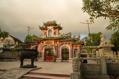Hoi An - the city of chinese lanterns. The temple Stock Photos