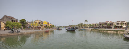 Hoi An city panoramic view Royalty Free Stock Images