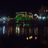 Hoi An - de stad van Chinese lantaarns Tha Japanse brug Stock Afbeeldingen