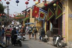 HOI, de Toeristen van VIETNAM Stock Afbeelding