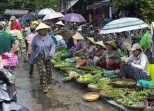 HOI, de Vruchten van VIETNAM en Veg-Markt Stock Foto's