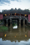 Hoi An - die Stadt von chinesischen Laternen Die japanische Brücke Stockbilder