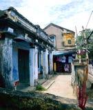 Hoi An dwellings. Closeup of roadside dwellings in Hoi An, Vietnam Royalty Free Stock Photos