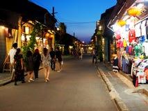 HOI, een historische Japanse Chinese en Europese internationale markt in VIETNAM Royalty-vrije Stock Foto