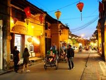 HOI, een historische Japanse Chinese en Europese internationale markt in VIETNAM Stock Fotografie