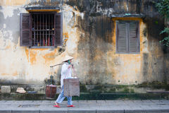 Hoi ein Straßenverkäufer Stockbild