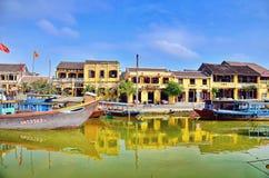 Hoi en gammal town Hoi An är en populär turist- destination av Asien Arkivfoton
