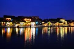 Hoi en gammal town Hoi An är en populär turist- destination av Asien Royaltyfri Foto