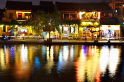 Hoi en gammal town Hoi An är en populär turist- destination av Asien Arkivfoto