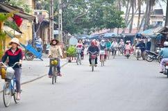 Hoi en gammal town Hoi An är en populär turist- destination av Asien Royaltyfria Foton