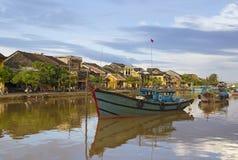 Hoi An flodstrand i Vietnam royaltyfri fotografi