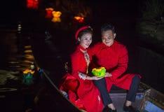 The Hoi An Full Moon Lantern Festival Royalty Free Stock Photo