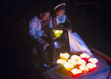 The Hoi An Full Moon Lantern Festival Royalty Free Stock Photos