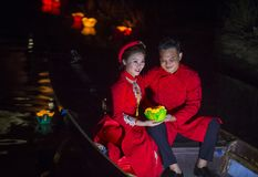 The Hoi An Full Moon Lantern Festival Royalty Free Stock Photo