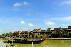 Hoi An Habour. HoiAn, also Faifo, is a city of Vietnam, on the coast of the South China Sea in the South Central Coast of Vietnam. It is located in Quang Nam Royalty Free Stock Photo