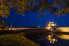 Hoi An - il Vietnam 16 marzo:: bella architettura della città piacevole alla città antica di Hoi An Fotografia Stock Libera da Diritti