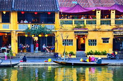 Hoi An ist ein populärer touristischer Bestimmungsort von Asien Lizenzfreies Stockfoto