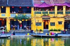 Hoi jest popularnym turystycznym miejscem przeznaczenia Azja Zdjęcie Royalty Free