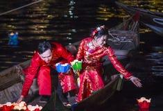 Hoi księżyc w pełni Latarniowy festiwal Zdjęcia Royalty Free