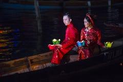 Hoi księżyc w pełni Latarniowy festiwal Fotografia Royalty Free