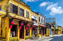 Hoi An during mid day. On a sunny day stock photography