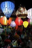 Hoi An by night with lampions - Vietnam Asia royalty free stock photos