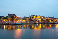 Hoi An by night, Vietnam. This image shows the ancient town of Hoi An by night, Vietnam Royalty Free Stock Photo
