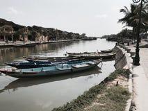 Hoi łodzie rybackie Vietnam Obrazy Stock