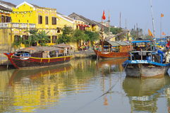 Old colonial city of Hoi An in Vietnam Royalty Free Stock Photo