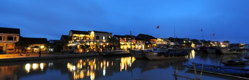 Hoi An Panorama. View of Hoi An old town at night, Vietnam Stock Photo
