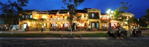 Hoi An Panorama. View of Hoi An old town at night, Vietnam Stock Photos