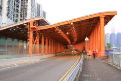 Hoi On Rd Tsuen Wan på Hong Kong arkivfoton