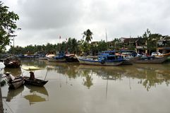 Hoi An river, Vietnam Royalty Free Stock Photography