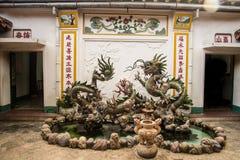 Hoi An - staden av kinesiska lyktor Templet Royaltyfria Bilder