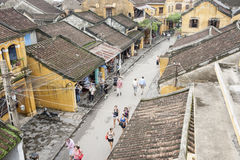 Hoi An street below. Royalty Free Stock Photography