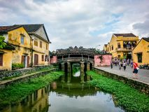 Hoi An Street Scene River Vietnam South East Asia royaltyfri bild