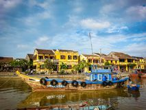 Hoi An Street Scene River Vietnam South East Asia. Very much one of the main tourist attractions and points of interest in the area Stock Images