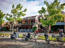 Hoi An Street Scene River Vietnam South East Asia. Very much one of the main tourist attractions and points of interest in the area Royalty Free Stock Images