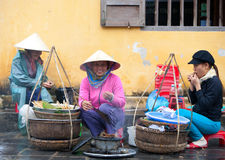 Hoi An street sellers stock images